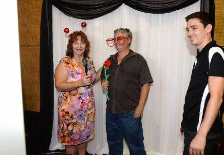 Katrina and Tony Kirsopp and Jeremy Welford of MJs Photobooth.