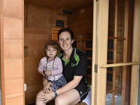 DETOX ROOM: Be Yourself Health and Fitness at Oakey owner Renee Graham and daughter Brynee.