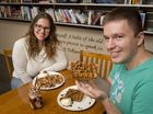 MAPLE GOODNESS: Paige ( Left ) and Daniel Bloomfield try out goodies from their new menu at Sugar Maples. Friday, Feb 05, 2016 .