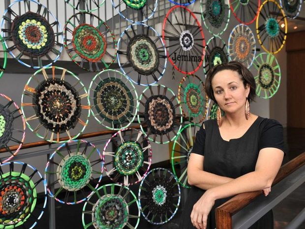 Jemima Wyman at the Liverpool Biennale. Photo Brian Slater (**MUST be credited**) Photo Contributed