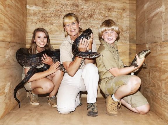 Bindi, Terri and Robert Irwin pictured as they prepare to enter the I'm A Celebrity... Get Me Out of Here! camp.