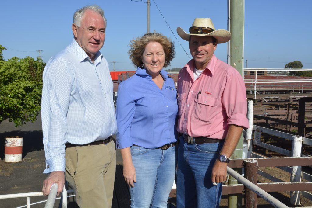 A generous donation was made to the family of a two-year-old boy who was killed at Irongate. Toowoomba Regional Council mayor Paul Antonio donated two head of cattle, with Careflight's Sarah Delahunty and Elders agent Darren Hartwig.