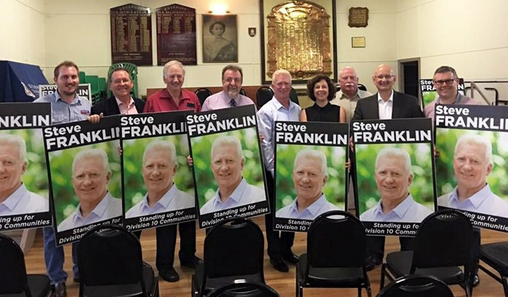 ALP heavyweights back the launch of Division 10's Steve Franklin. Photo: Contributed