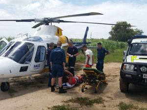 Woman impaled by tree branch at river bank