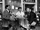 WHEN IN ROME: The G Rocca Café opposite the Pantheon (top left) in Roman Holiday no longer exists but travellers can easily visit other locations in the film.