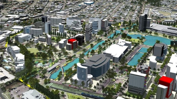 The new-look SunCentral Maroochydore to be developed over the next 20 years. Photo: Supplied