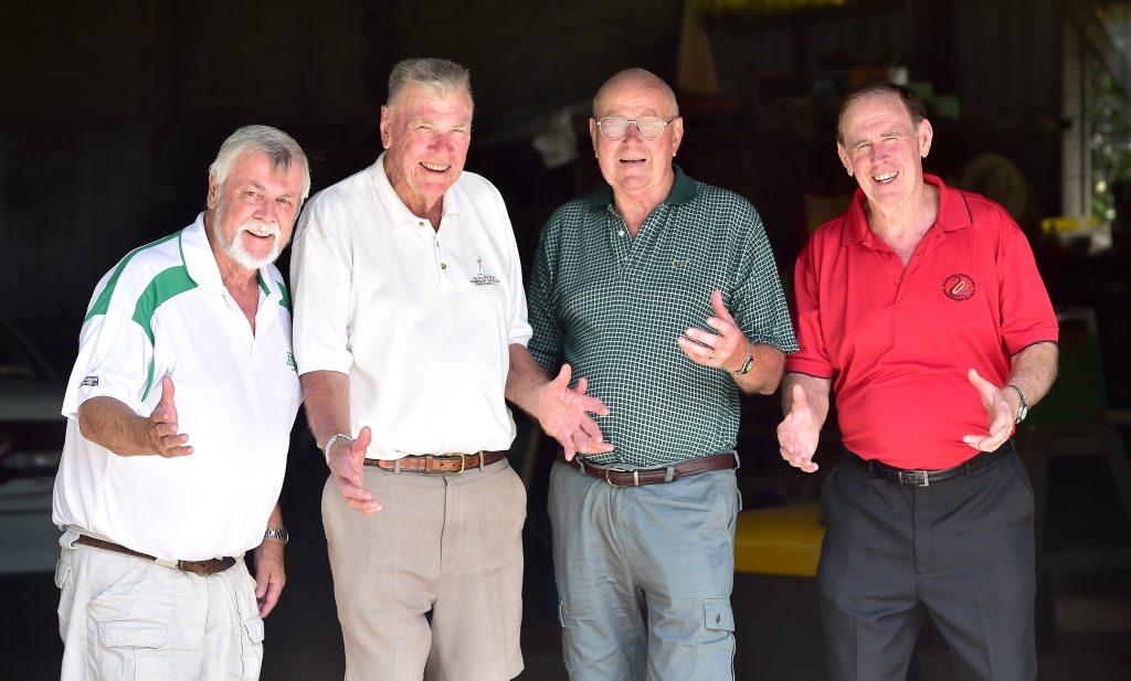 Sunshine Statesman Barbershop Singers (from left) Mike Ivess, Graeme Ensoll, David Wood and Bill Leivesley. Photo: Che Chapman / Sunshine Coast Daily