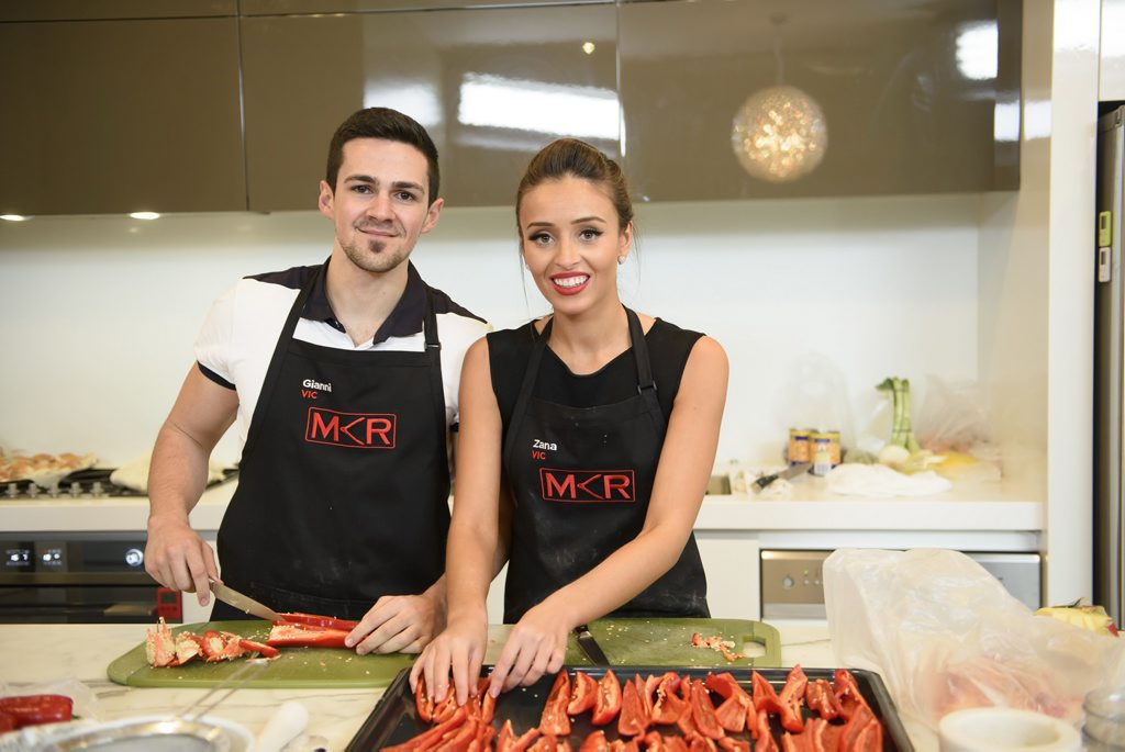 My Kitchen Rules contestants Gianni and Zana pictured during their instant restaurant in Melbourne.