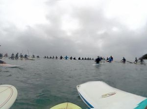 Paddle out tribute for well-known surfer