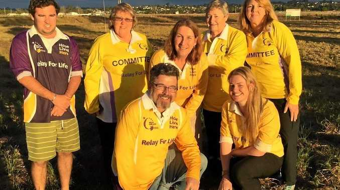 Some of the 2016 Grafton Relay For Life committee at the new venue at Jabour Park, South Grafton getting ready to launch the Relay!