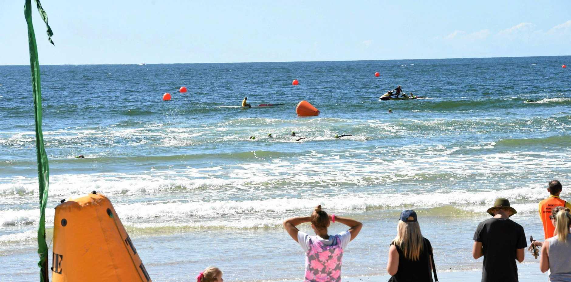 Byron Bay Triathlon at Main Beach in Byron Bay. Photo Marc Stapelberg / The Northern Star