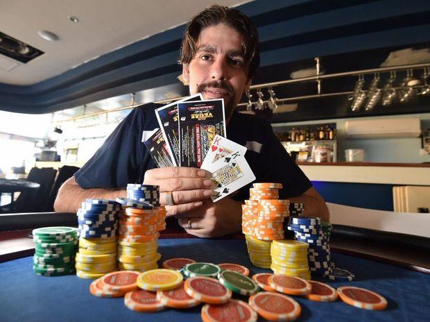 Poker champ - Clint Ennis heading off to Las Vegas. Photo: Alistair Brightman / Fraser Coast Chronicle