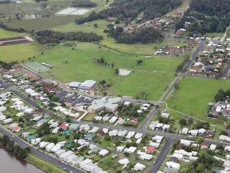 Aerial view of Wherrett Park Maclean