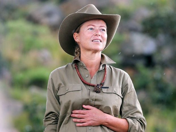 Noosa's Jo Beth Taylor pictured as she prepares to face her first solo tucker trial on the TV series I'm A Celebrity... Get Me Out of Here!