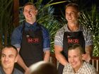 My Kitchen Rules contestants Alex and Gareth pictured during their instant restaurant in Mackay.