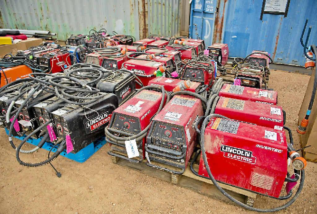 Used welders await new ownership.