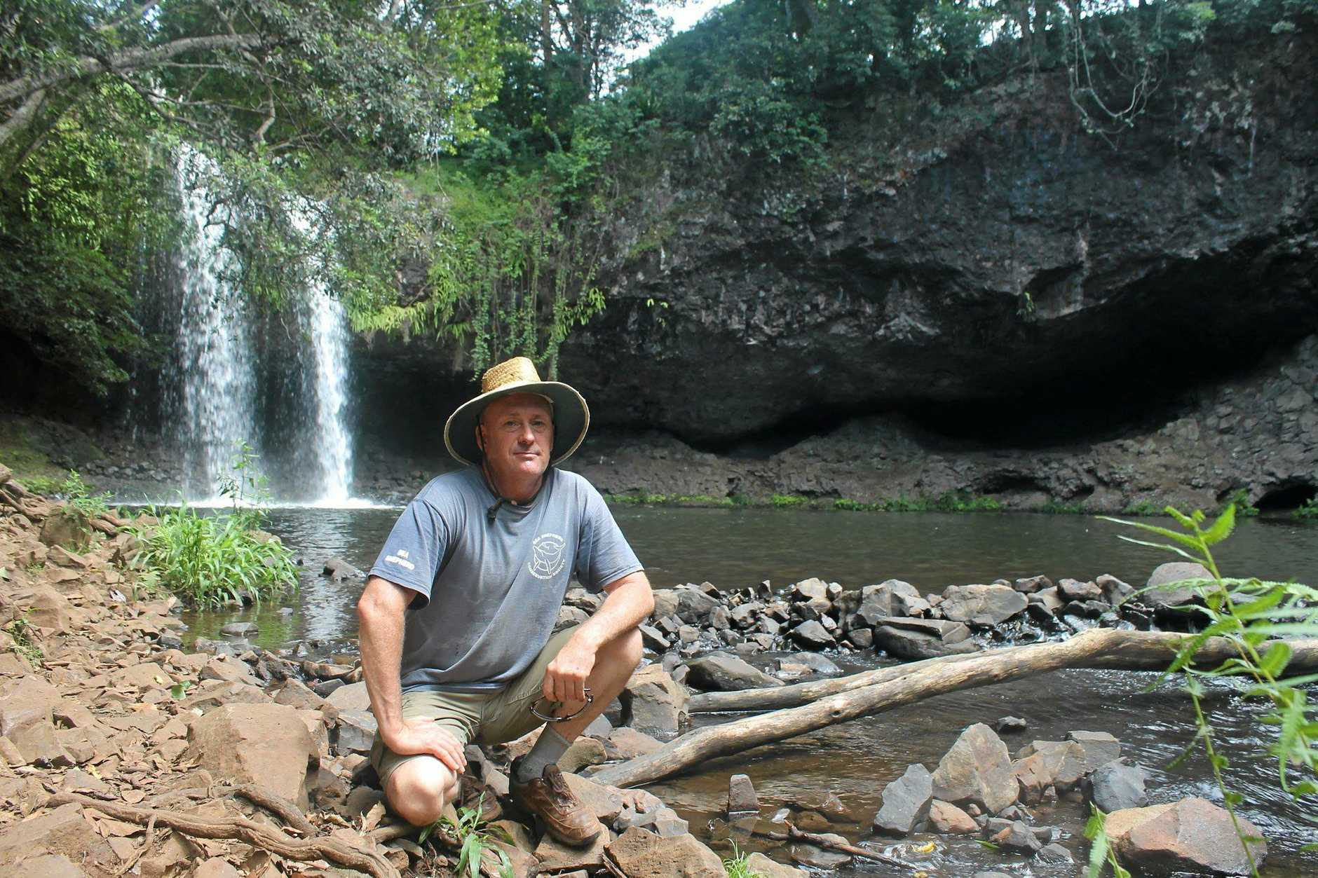 WE NEED MORE FACILITIES: David Bester, from Tintenbar, has for the second time organised for a petition for amenities to be built at Killen Falls which is beocoming increasingly popular as a swimming spot.
