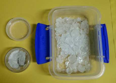 Police found $18,000 worth of methylamphetamine at the address.