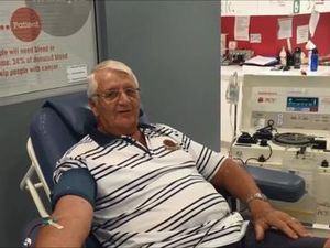 Ron Krueger, 70, gives plasma for the first time
