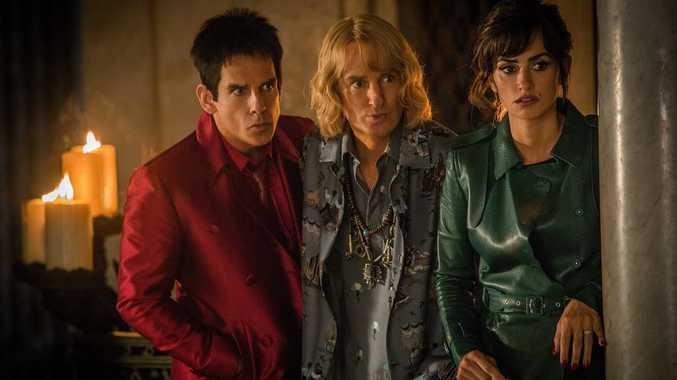 Ben Stiller, Owen Wilson and Penelope Cruz in a scene from the movie Zoolander 2.