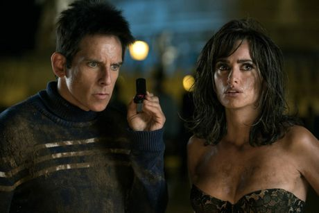 Ben Stiller and Penelope Cruz in a scene from the movie Zoolander 2.