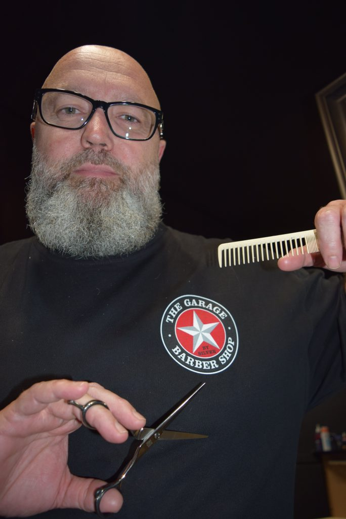 Rex Silver's Garage Barber Shop and Silver Salon have been listed in the top five in their categories for the Australian Hair Industry Awards. Photo Campbell Gellie / The Observer