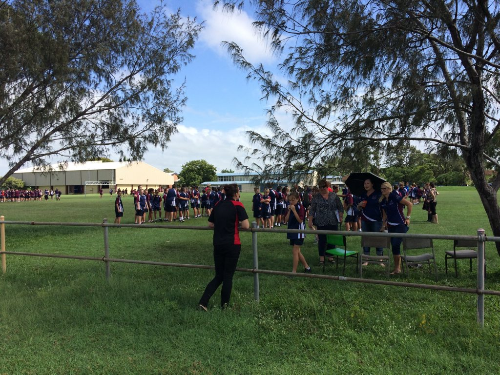 Mackay State High School evacuated after threats made against the school Photo: Justin Van Herrden