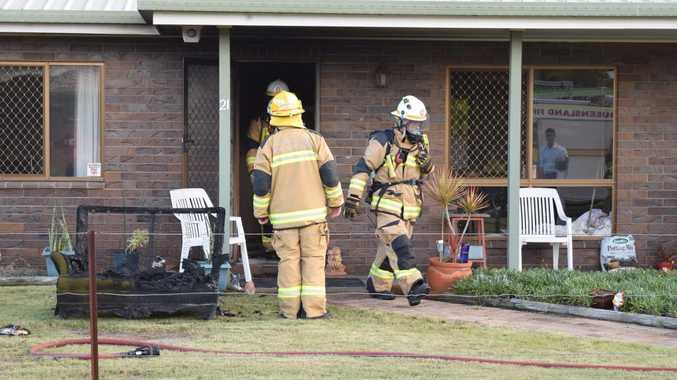 EXTINGUISHED: A small fire broke out in the front bedroom of a White St, Point Vernon home just after 4.10pm on Thursday.