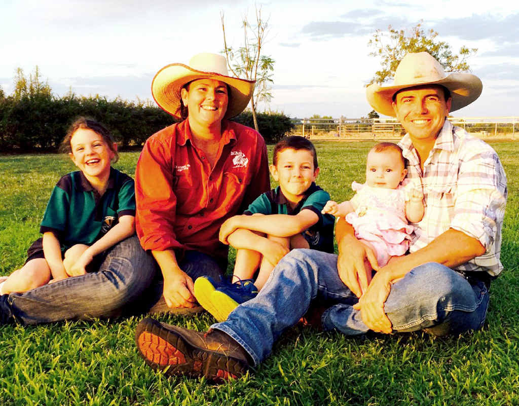 FAMILY MAN: Sean Dillon with his wife Sarah and their children Ryan, Tia and Kacee at Surbiton Station north of Alpha.