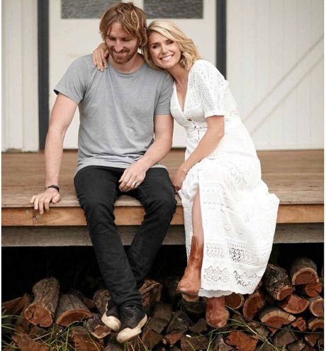 Darren Robertson and Magdalena Roze are forging a new life in the Byron Nay hinterland..