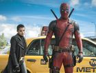 MASKED: Brianna Hildebrand and Ryan Reynolds in a scene from the movie Deadpool.