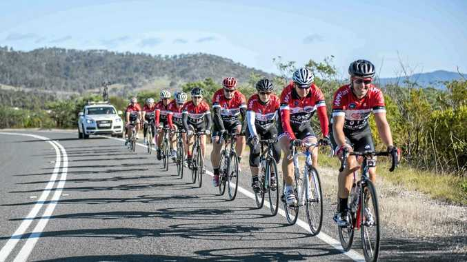 PEDAL POWER: Riders during last year's Variety Cycle.
