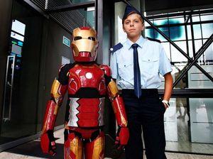 IronBoy Domenic battles Ultron, saves Sydney from baddies