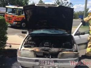 Car fire in Withcott