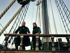 Toby Stephens and Luke Arnold in a scene from season three of Black Sails.
