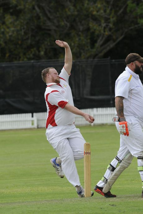 Services bowler Adam Spies during the CRCA premier league match between Services and Westlawn at Ellem Oval Grafton on Saturday, 6th February, 2016. Photo Debrah Novak / The Daily Examiner