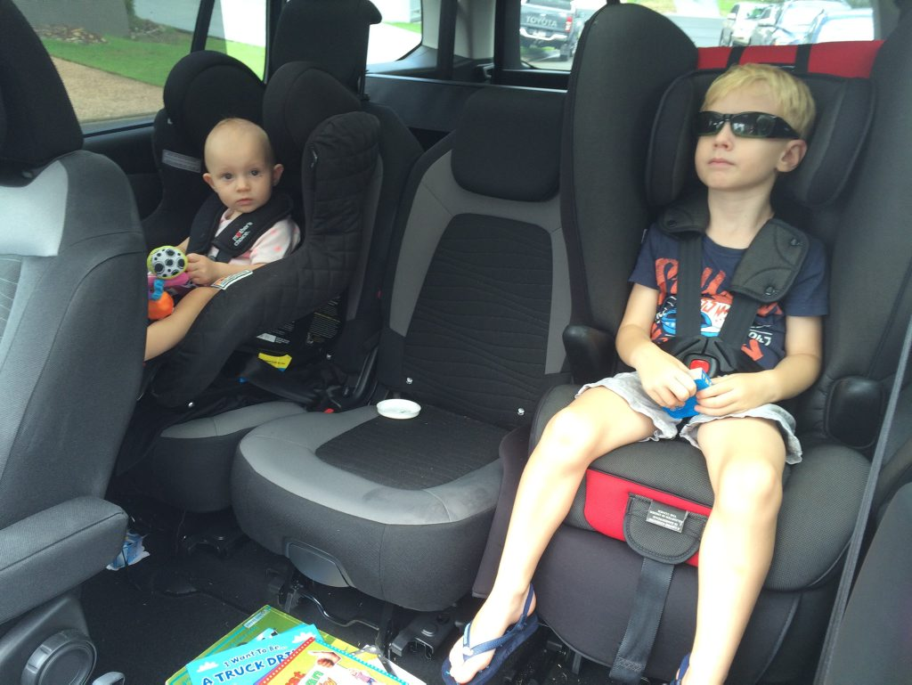 Very child friendly in the second row seating of the 2016 Citroen C4 Grand Picasso. Photo: Iain Curry / Sunshine Coast Daily
