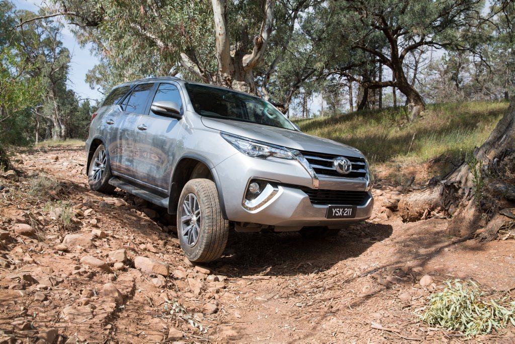 FORTUNER: Seven seats, plenty of rear space and the ability to go most places thanks to HiLux-based 4x4 underpinnings.