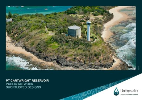 Unitywater's Point Cartwright Reservoir is visable from Buderim to Kawana and far out to sea.