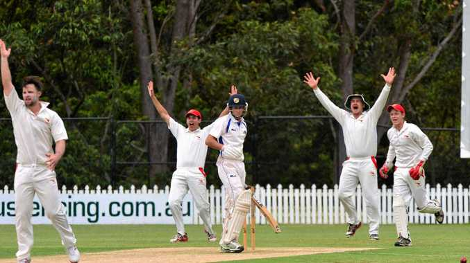 CELEBRATION: Sean Hutton survives an lbw appeal in the cricket match between Maroochydore Blue and Gympie.