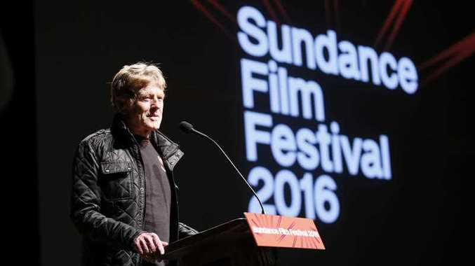Robert Redford, founder and president of the Sundance Institute speaks at the premiere of