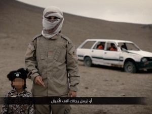 ISIS video appears to show boy, 4, executing three men