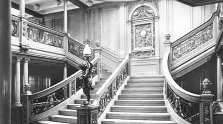 A staircase on the Titanic.