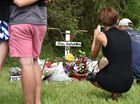 Memorial service for Joel Winterton at the park below the Lamington Bridge where he drowned. Photo: Alistair Brightman / Fraser Coast Chronicle