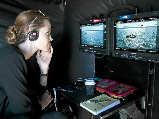 Angelina Jolie working on the film Unbroken.