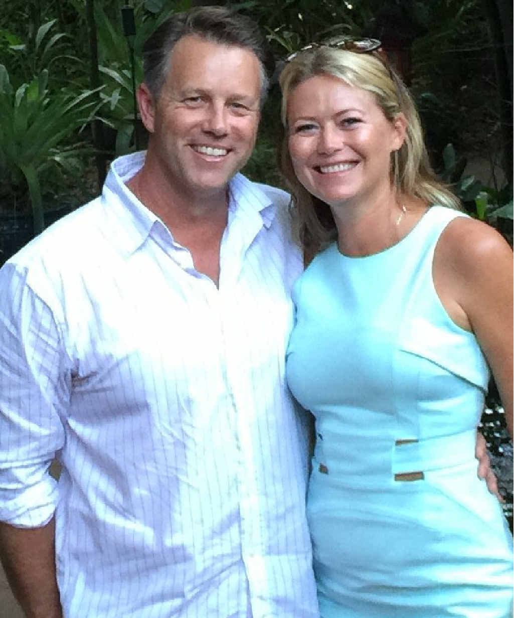 MISS YOU: Jo Beth Taylor and her partner Matt Bennell will be apart this Valentine's Day.