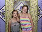 AMAZING QUILTS: Crafty youngsters Milla (left) and Cara Cronje check out the colourful quilts at CraftAlive.