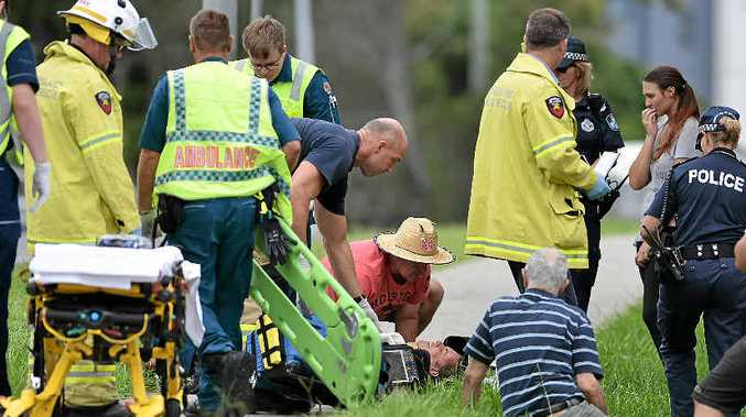 MAN HIT: A pedestrian was stuck while crossing on Bradman Ave.