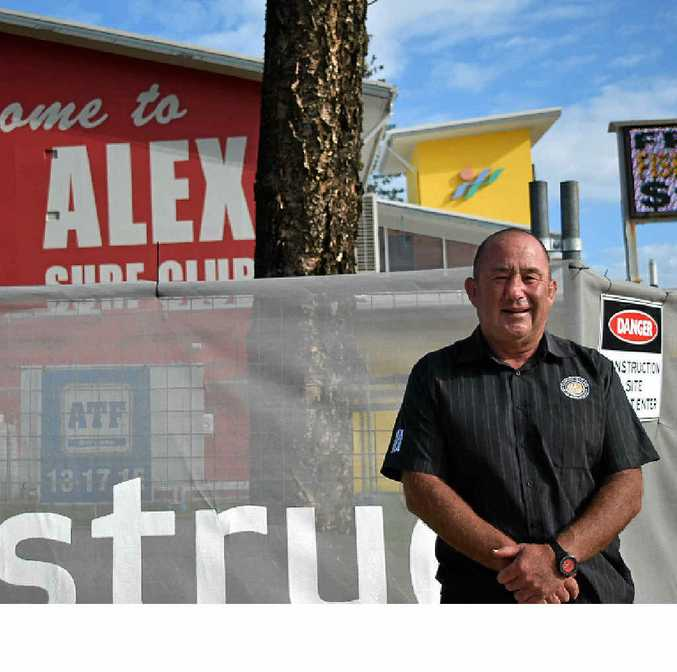 READY TO BUILD: Alex Surf Club general manager Ashley Robinson says he's excited proposed extensions to the north side of the club have been approved by the council.