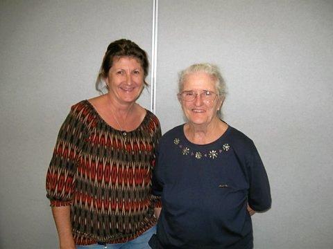 New secretary Debra Prendergast and treasurer Gwen McLennan at Grafton UHA.